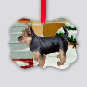 Australian Terrier Christmas Picture Ornament