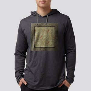 William Morris Floral lily willo Mens Hooded Shirt