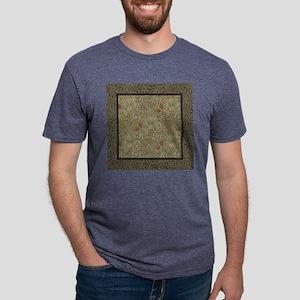 William Morris Floral lily  Mens Tri-blend T-Shirt