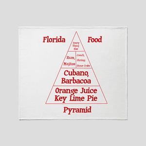 Florida Food Pyramid Throw Blanket
