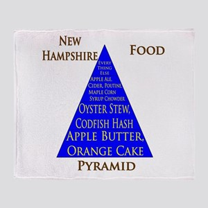 New Hampshire Food Pyramid Throw Blanket