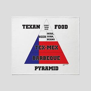 Texan Food Pyramid Throw Blanket