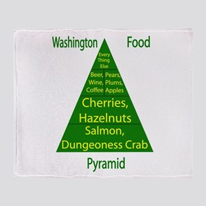 Washington Food Pyramid Throw Blanket
