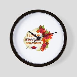 Swazi Girlfriend Valentine design Wall Clock