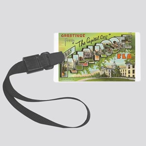Greetings from Tallahassee, FL Large Luggage Tag