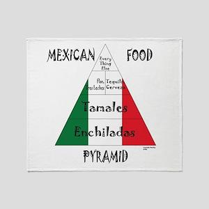 Mexican Food Pyramid Throw Blanket