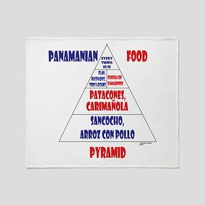 Panamanian Food Pyramid Throw Blanket