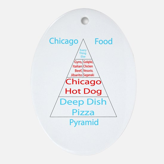 Chicago Food Pyramid Ornament (Oval)