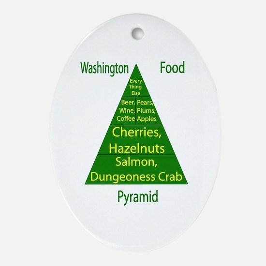 Washington Food Pyramid Ornament (Oval)