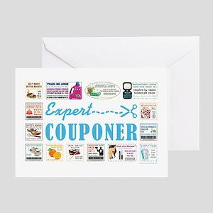 EXPERT COUPONER Greeting Card