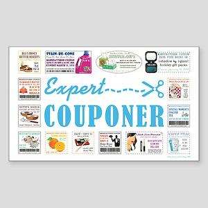 EXPERT COUPONER Sticker (Rectangle)