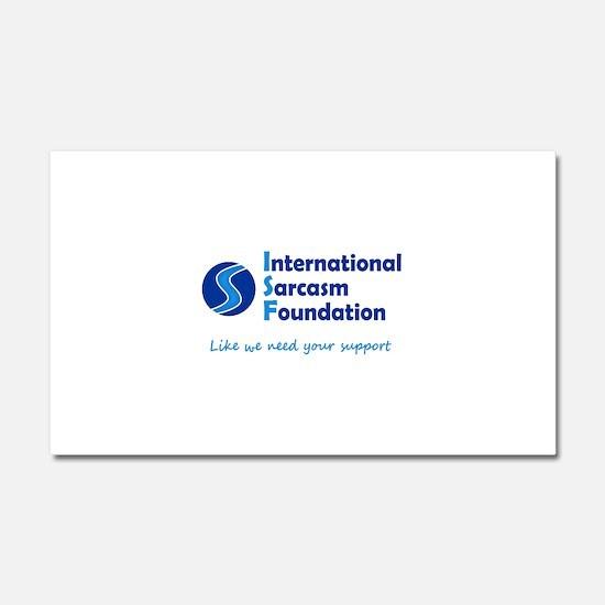 International Sarcasm Foundation Car Magnet 20 x 1