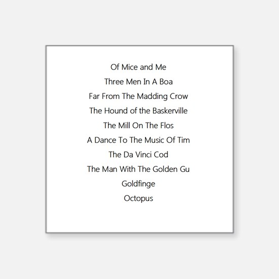 Of mice and men bumper stickers cafepress books with the final letter knocked off square sti fandeluxe Choice Image