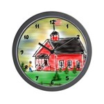Old School House by Mark Moore Wall Clock