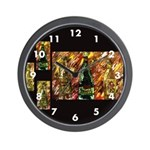 Contemporary Wine Abstract Wall Clock