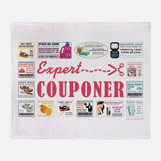 EXPERT COUPONER Throw Blanket