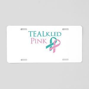 TEALkled Pink Aluminum License Plate