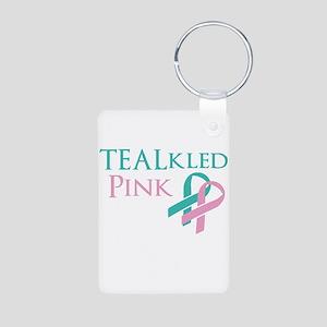TEALkled Pink Aluminum Photo Keychain