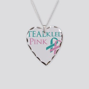 TEALkled Pink Necklace Heart Charm