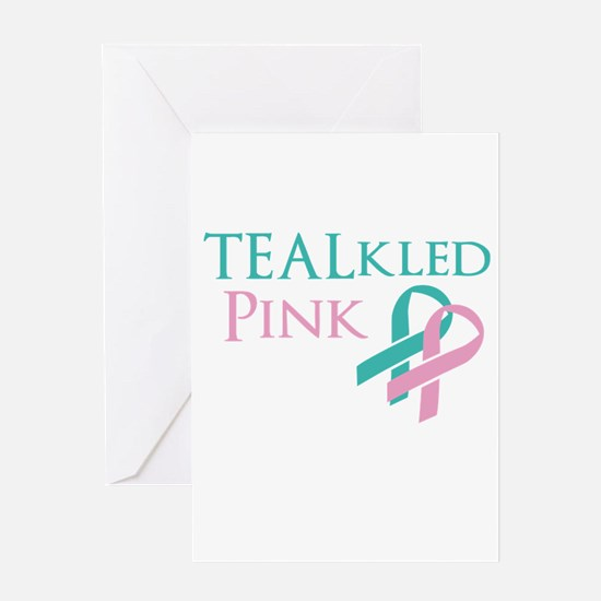 TEALkled Pink Greeting Card