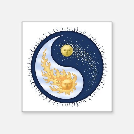 Sun-Moon Rectangle Sticker