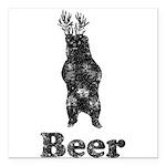 Vintage Beer Bear 1 Square Car Magnet 3