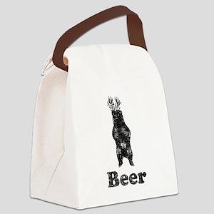 Vintage Beer Bear 1 Canvas Lunch Bag