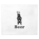 Vintage Beer Bear 1 King Duvet
