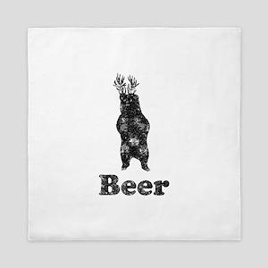 Vintage Beer Bear 1 Queen Duvet