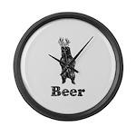 Vintage Beer Bear 1 Large Wall Clock
