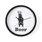 Vintage Beer Bear 1 Wall Clock