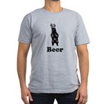 Vintage Beer Bear 1 Men's Fitted T-Shirt (dark)