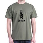 Vintage Beer Bear 1 Dark T-Shirt