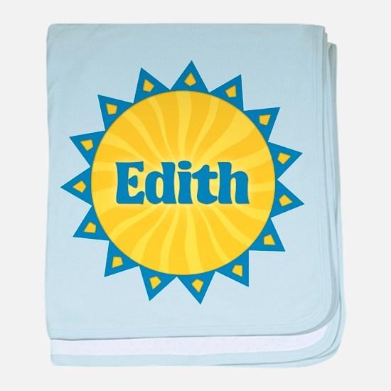 Edith Sunburst baby blanket