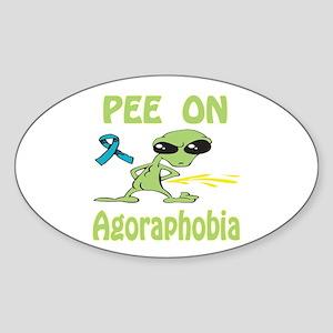 Pee on Agoraphobia Sticker (Oval)