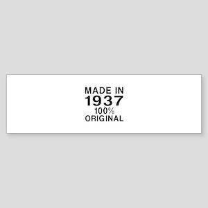 Made In 1937 Sticker (Bumper)