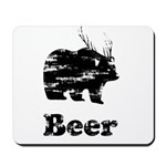Vintage Beer Bear 2 Mousepad