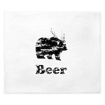 Vintage Beer Bear 2 King Duvet