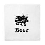 Vintage Beer Bear 2 Queen Duvet