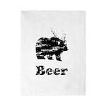 Vintage Beer Bear 2 Twin Duvet