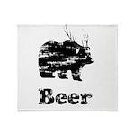 Vintage Beer Bear 2 Throw Blanket