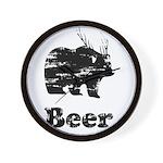 Vintage Beer Bear 2 Wall Clock