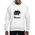 Vintage Beer Bear 2 Hooded Sweatshirt