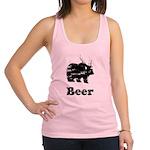 Vintage Beer Bear 2 Racerback Tank Top