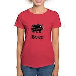 Vintage Beer Bear 2 Women's Dark T-Shirt