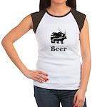 Vintage Beer Bear 2 Women's Cap Sleeve T-Shirt