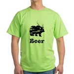 Vintage Beer Bear 2 Green T-Shirt