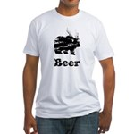 Vintage Beer Bear 2 Fitted T-Shirt