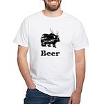 Vintage Beer Bear 2 White T-Shirt