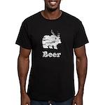 Vintage Beer Bear 2 Men's Fitted T-Shirt (dark)